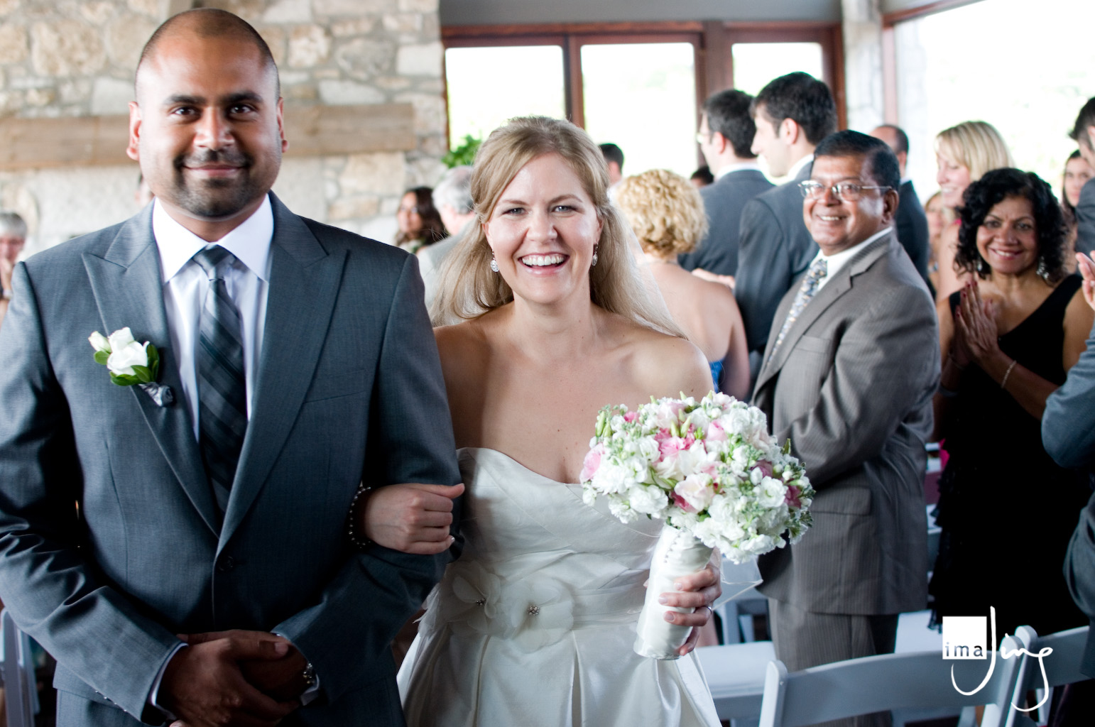 Recessional - wedding at the Cambridge Mill